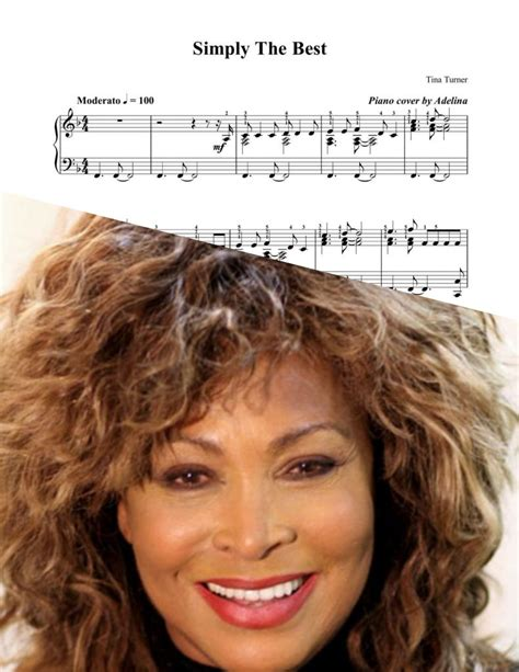 tina turner you are the best quot the best quot tina turner piano sheet