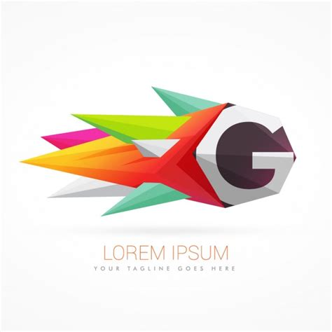 design logo huruf f colorful abstract logo with letter g vector free download