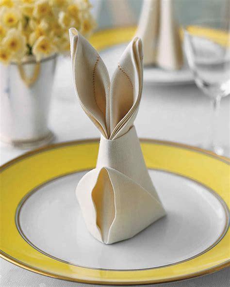 Hasen Servietten Falten by Bunny Fold For Napkins Martha Stewart