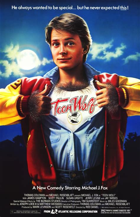 michael j fox wolf movie teen wolf 1985 review basementrejects