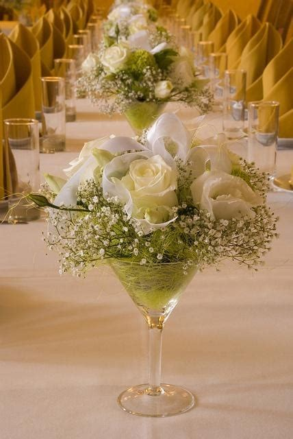 centerpiece in a martini glass get togethers parties