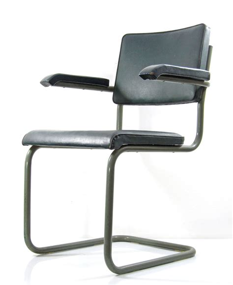 Cantilever Chair by Marcel Breuer Style Vintage Bauhaus Cantilever Chair