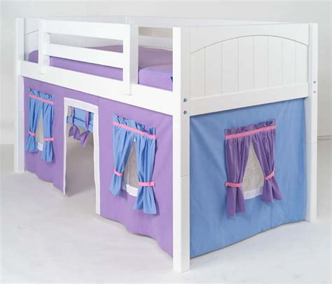 loft bed playhouse curtains playhouse loft bed w slide by maxtrix kids pink white on