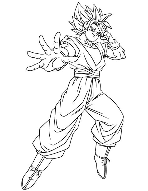 Dragon Ball Gt Coloring Pages Goku | dragon ball gt goku ssj coloring page h m coloring pages
