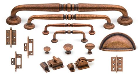 Old Copper Finish Cliffside Industries Scroll Suite Copper Kitchen Cabinet Hardware