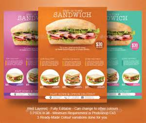 sandwich shop menu template sandwich flyer template by blogankids graphicriver
