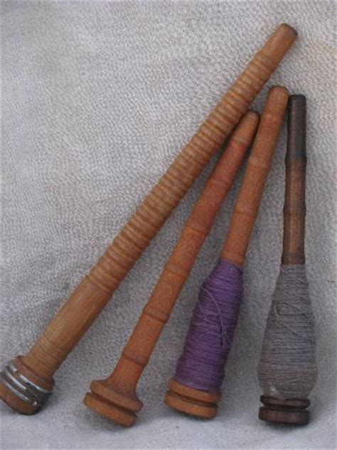 spindle knitting antique vintage wood knitting mill spindle spool lot
