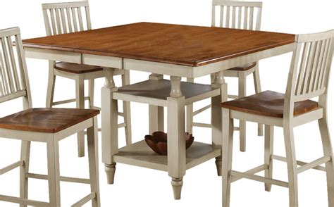 steve silver 42 inch counter steve silver candice 54x42 counter height table in oak and white w 12 inch farmhouse
