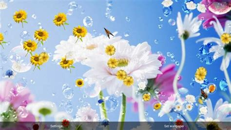 fiori animati gratis flowers live wallpaper android apps on play