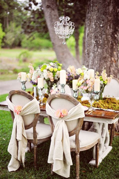 vintage country wedding table decorations photograph europ
