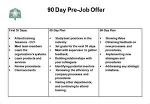 90 day plan template 30 60 90 day plan 6 free word excel pdf format