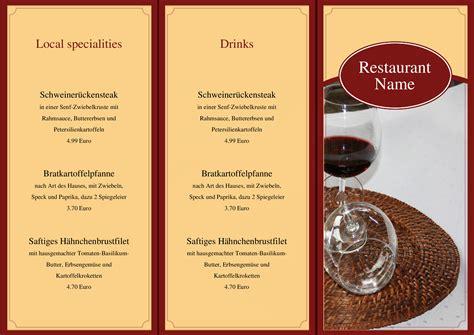 Menu Design Vorlagen speisekarten und 252 karten food and drinks menu template