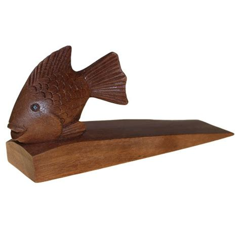 wooden door stop fish home decor that ll do nicely