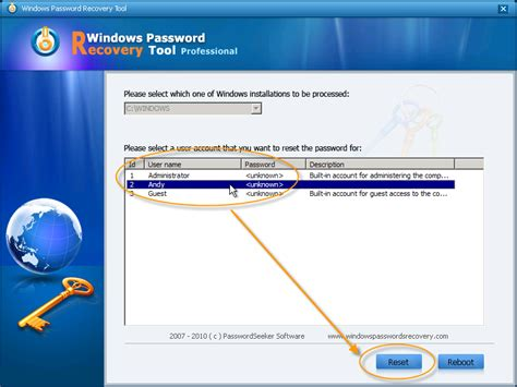 windows reset my password how to easily set and reset windows vista password