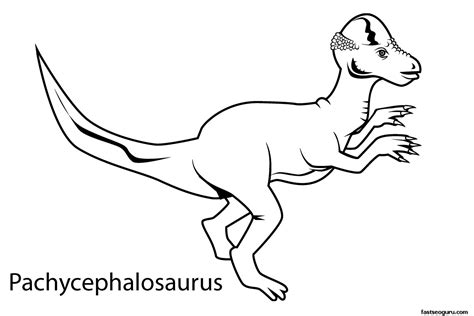 dinosaur coloring pages with names printable dinosaur pachycephalosaurus coloring in sheets