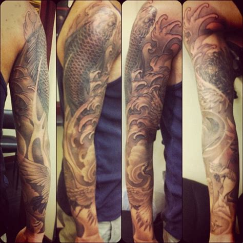 kevin s sleeve greywash tattoo finished inkstagram or