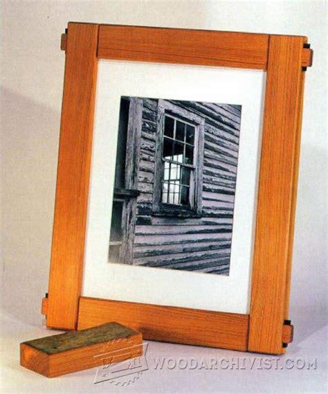 picture frame woodworking plans picture frame plans woodarchivist