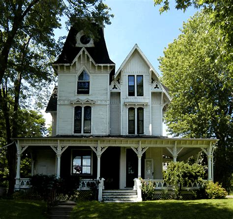 Victorian Gothic Homes Victorian Villa Gothic Revival Accents And Queen Anne
