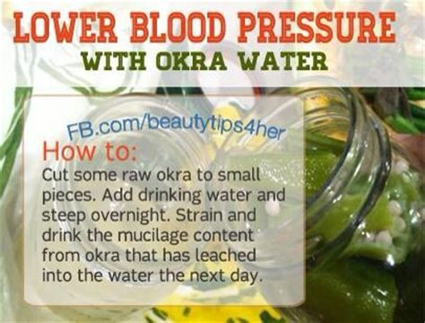 Detox Water For Low Blood Pressure by Lower Blood Pressure With Okra Water Trusper
