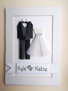 And Groom Origami - wedding anniversary gift personalized origami