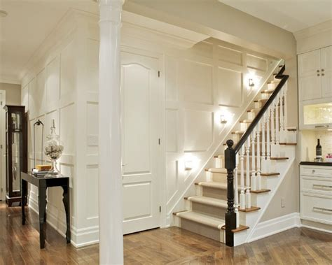 Floor to ceiling paneled wainscoting and stairs staircase wainscoting ideas photos design