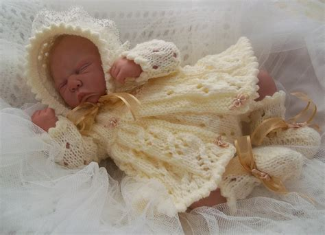 baby doll knitting patterns uk dk baby knitting pattern to knit matinee set early born