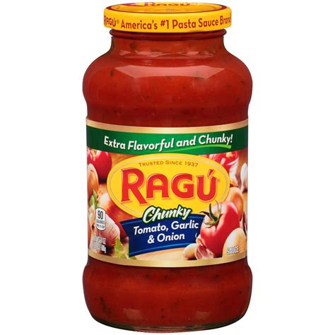 pasta sauce ragu chunky pasta sauce tomato garlic 26 oz 1 lb 10 oz 737 g