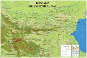 geographical map of geographical map bulgaria bulgaria mappery