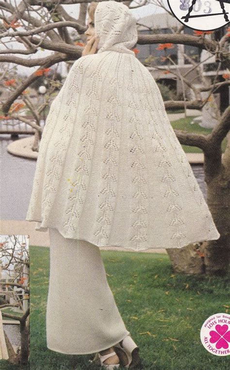 knitted cape pattern spray cape with knitting pattern with matching maxi