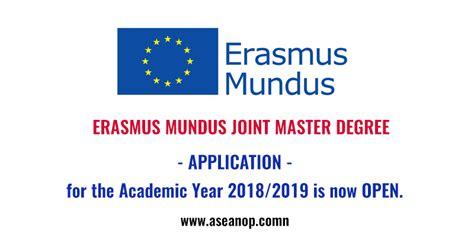 Mba Erasmus Mundus Scholarship by Erasmus Mundus Joint Master Degree Scholarship 2018 2019