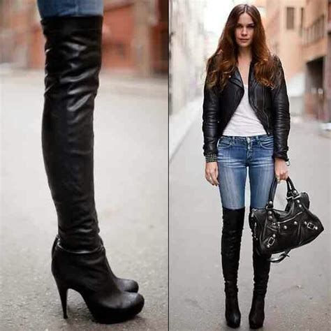 the knee high heel boots i shoes