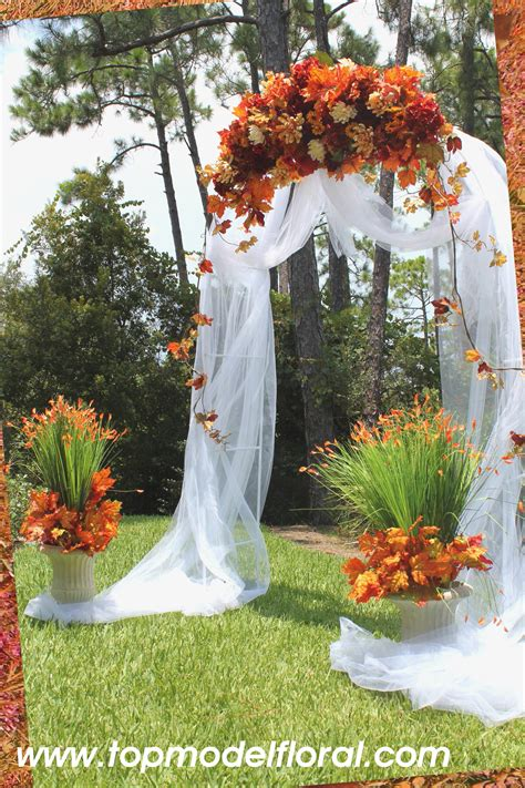 Flower To Decorate A Wedding by Simple Ways To Decorate Wedding Arch Fall Wedding Arch