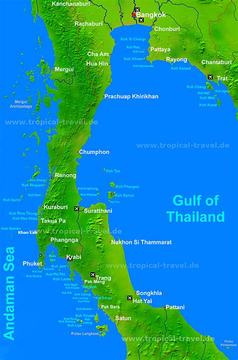 map of islands and thailand map islands