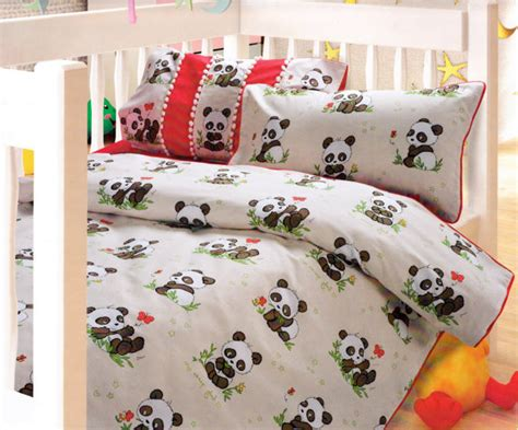 panda bed set custom red brown beige cappuccino from myveralinen on etsy
