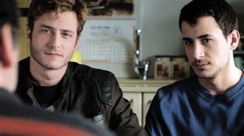 israeli men in bed out in the dark at brooklyn israel film festival