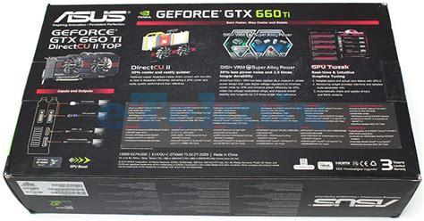 top back ti asus gtx 660ti directcu ii top graphics card review page