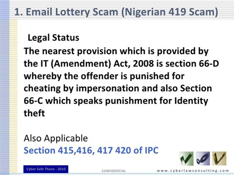 ipc section 417 email crimes and cyber law nasscom cyber safe 2010