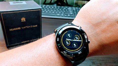 Smartwatch Huawei 2 huawei smartwatch 2 classic titanium grey with leather