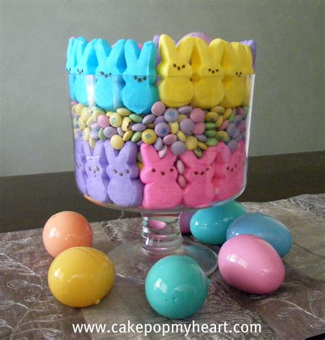 easter decorations with peeps cake pop