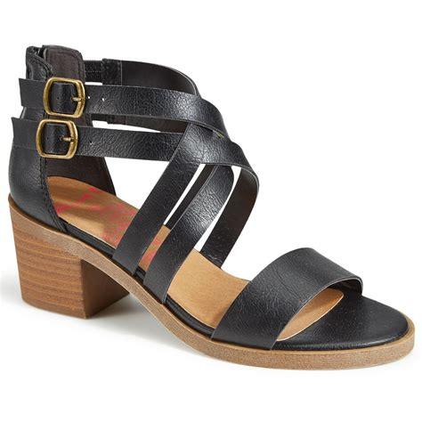 jellypop shoes jellypop women s honeydew heeled sandals black bob s stores