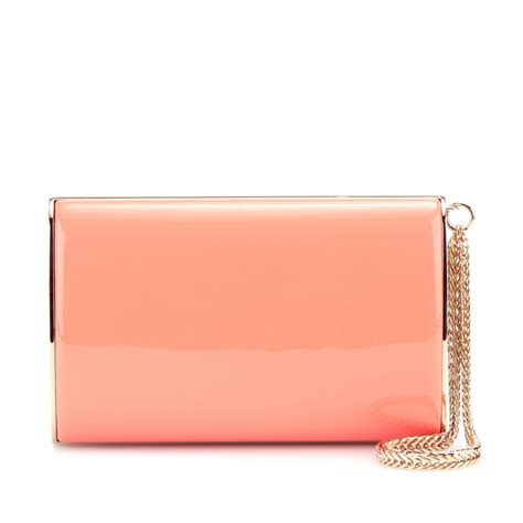 Jimmy Choo Coral Clutch by Lyst Jimmy Choo Clutch In Pink