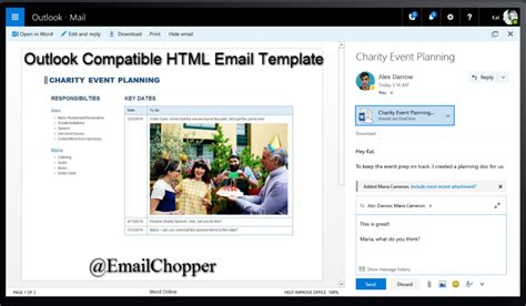Useful Tips Tricks To Create Outlook Compatible Html Email Template Email Chopper Create Html Email Template
