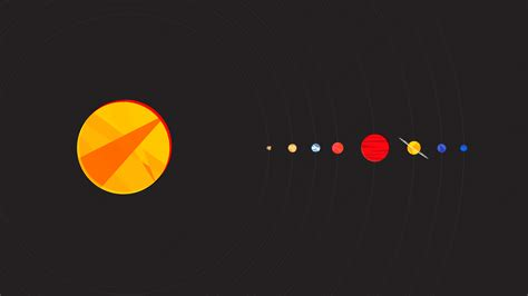 wallpaper 4k simple simple background minimalism solar system hd wallpapers