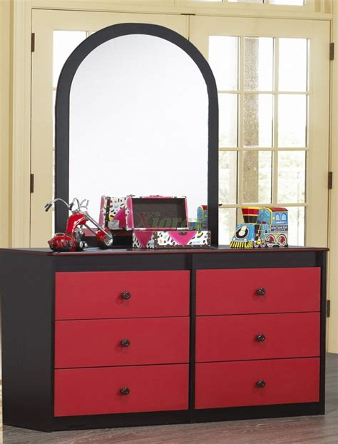 black dresser with mirror drawers bedroom black dresser with mirror and red drawer front
