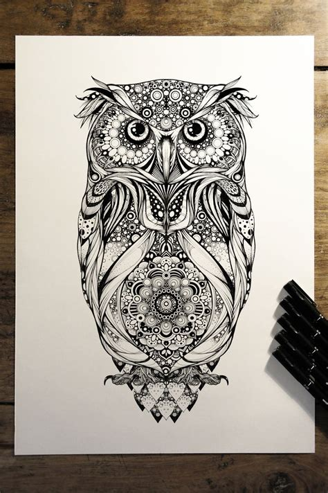 owl zentangle tattoo 751 best images about zentangle on pinterest