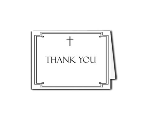 index card design template cross funeral programw funeral thank you card classic cross