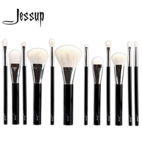 12pcs Professional Black Brushes Set aliexpress buy jessup 12pcs black professional makeup set pro kits brushes make up
