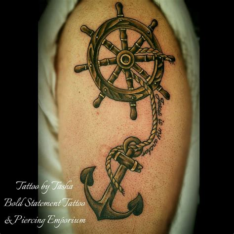 boat anchor tattoos wooden anchor and ship s wheel portfolio