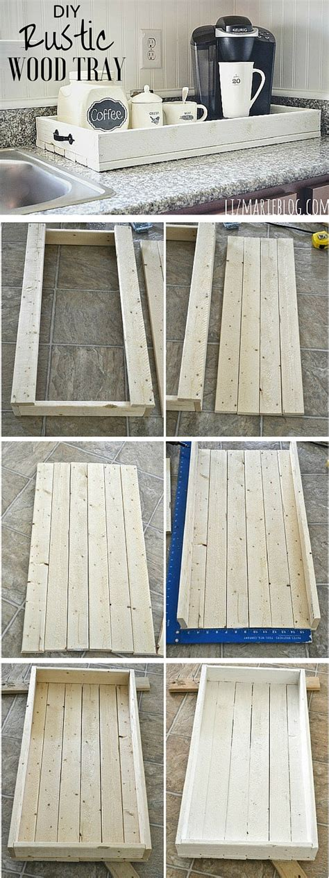 wood tray diy diy rustic wood tray