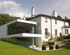 Modern Box House edge frameless contemporary extensions using modern